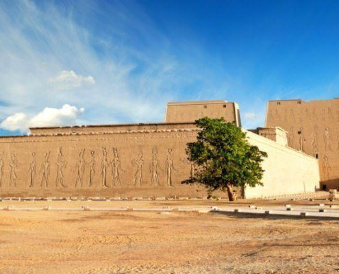 Outer walls of the Temple of Edfu