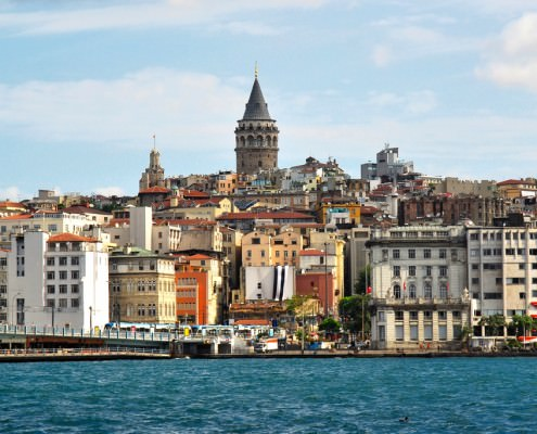 Pera District in Istanbul - View of the Galata Tower