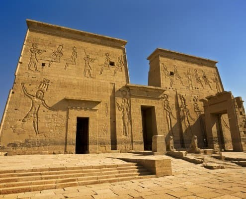Philae Temple of Isis - the First Pylon