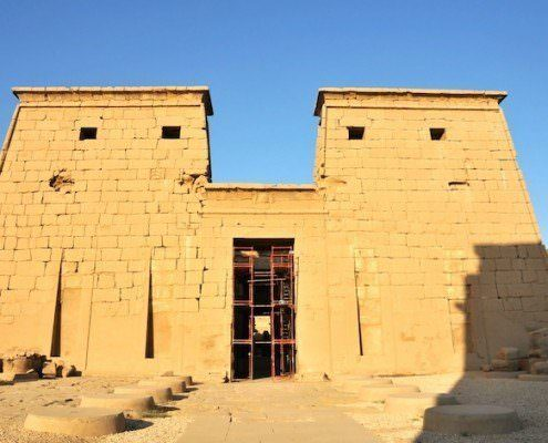 Pylon of the Khonsu Temple at Karnak, Luxor