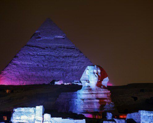 Pyramid of Khafre and the Great Sphinx