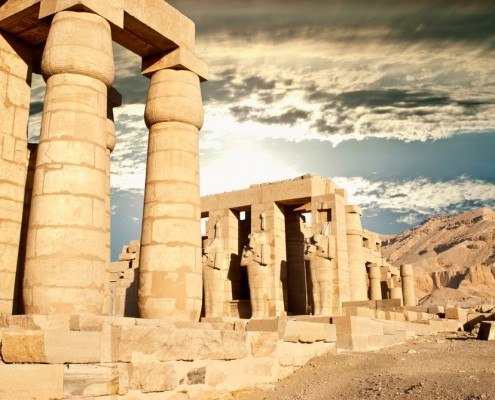 The Ramesseum Temple in Luxor - Mortuary Temple of Ramses II