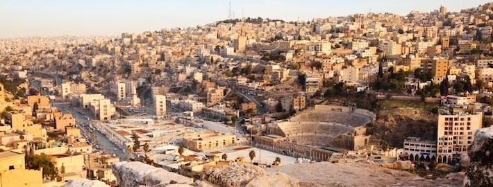 Roman Theater and Downtown Amman, Jordan