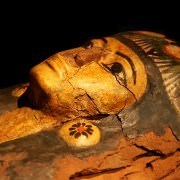 Sarcophagus on display in the Luxor Museum of Mummification