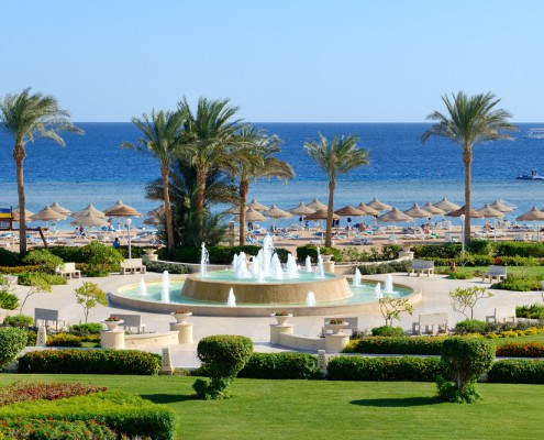 Sharm El Sheikh Vacation Package - Fountain and Beach in Sharm