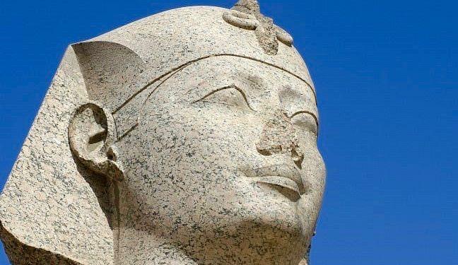 Sphinx Up Close - Pompey's Pillar, Alexandria