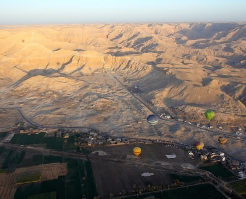 Spice up your vacation tour package with a Hot Air Balloon Ride in Luxor, Egypt