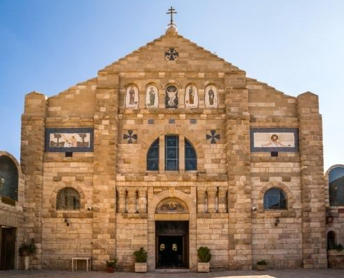 St. George Greek Orthodox Church in Jordan is located in Madaba, the City of Mosaics