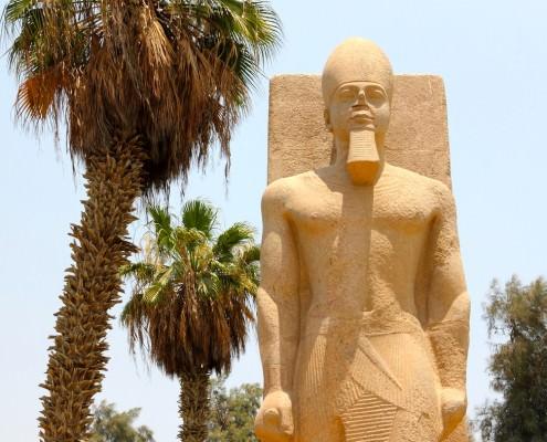 Statue of Ramses II in Memphis, Egypt