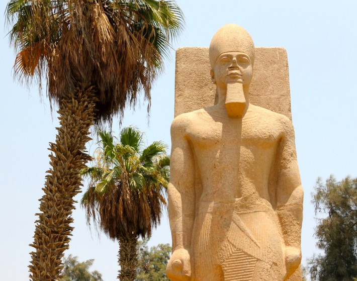 Statue of Ramses II in Memphis, Egypt
