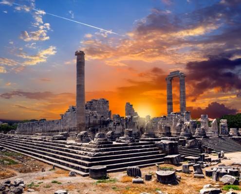 Temple of Apollo in Didyma at sunrise