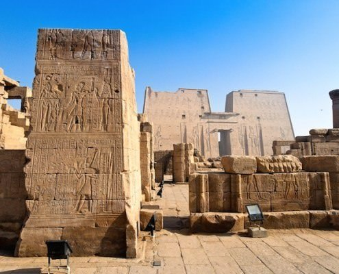 Temple of Edfu is the the biggest Horus temple ever constructed
