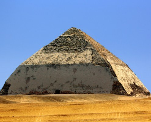 The Bent Pyramid (aka False, or Rhomboidal Pyramid because of it changed angle slope)