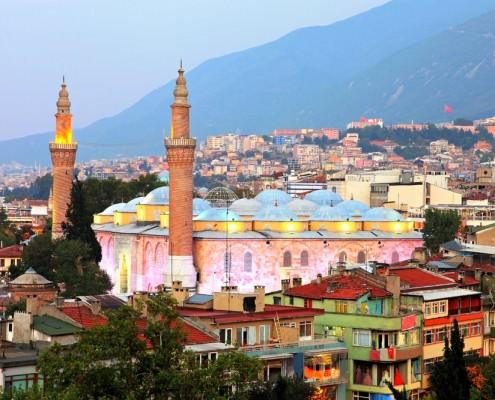 The Grand Mosque in Bursa (or Ulu Cami) is the largest mosque in Bursa, Turkey