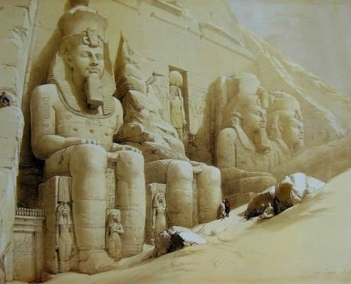 The Great Temple of Abu Simbel - David Roberts, 1838