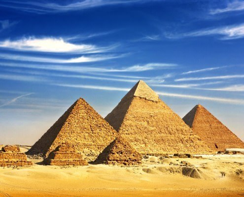 The Majestic Giza Pyramids