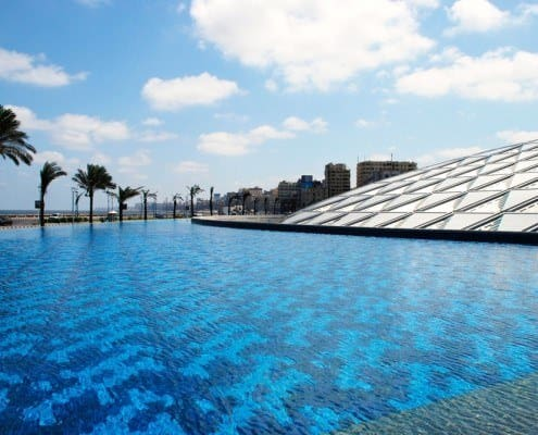 The New Library of Alexandria in Egypt