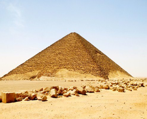The Red Pyramid is believed to be the world's first successful attempt at constructing a true smooth-sided pyramid