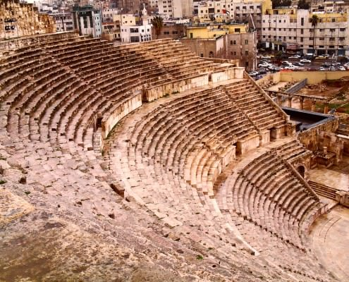 The Roman Theatre In Amman, Jordan