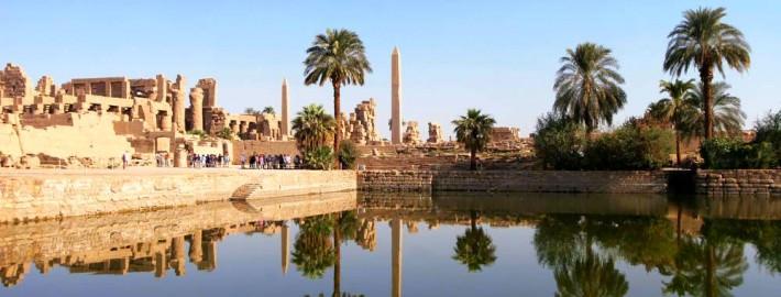 The Sacred Lake of Karnak Temple