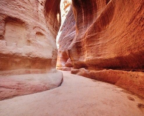 The Siq (canyon) entrance to Petra