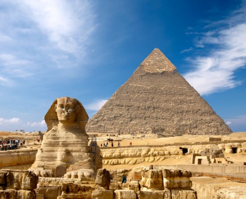 The Sphinx and the Pyramid of Khafre (Chephren)