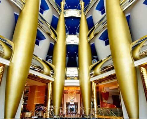 The foyer of Burj Al Arab Hotel