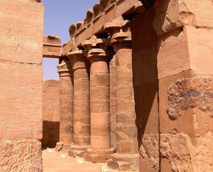 The inside courtyard of the Temple of Maharraqua, Lake Nasser