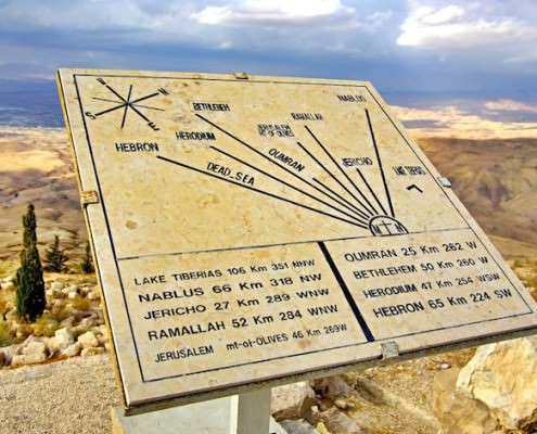 The view from Mount Nebo's Syagha to the valley