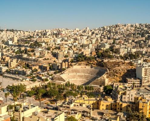 View of Amman in Jordan
