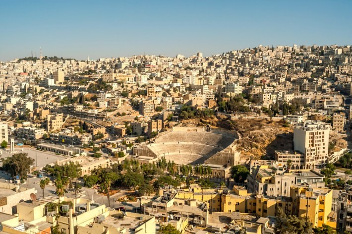 View of Amman in Jordan