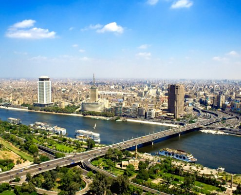 View of Cairo from the tower