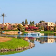 Diving in El Gouna - View of coastline at El Gouna. Egypt