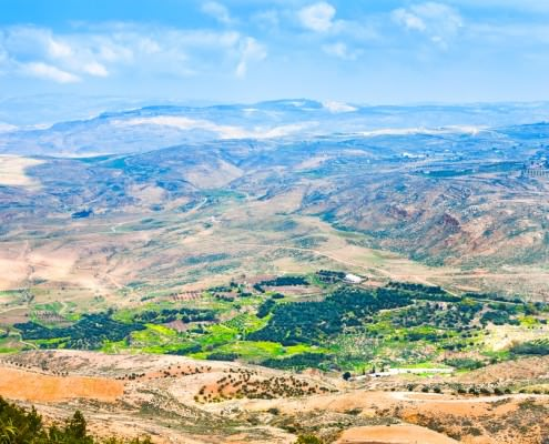 View of the Promised Land from Mount Nebo in Jordan