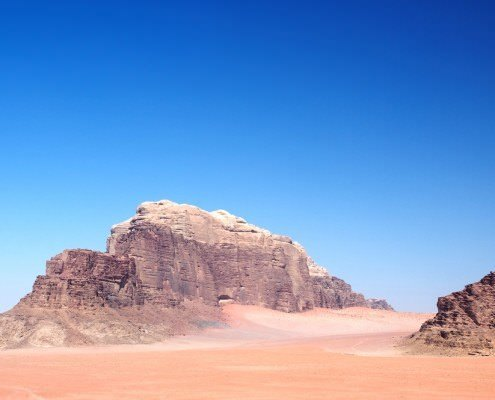 Wadi Rum Mountains in Jordan