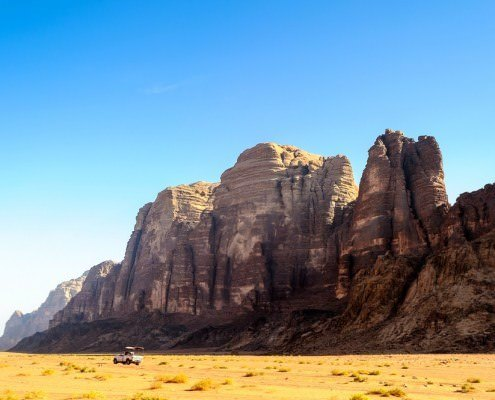 Wadi Rum - The rock formations of the Seven Pillars of Wisdom?