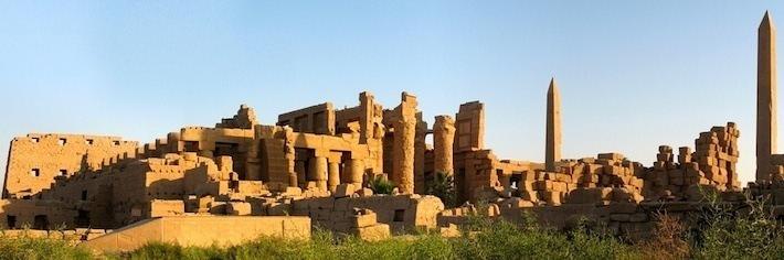 Walls, columns and obelisks at Karnak Temple