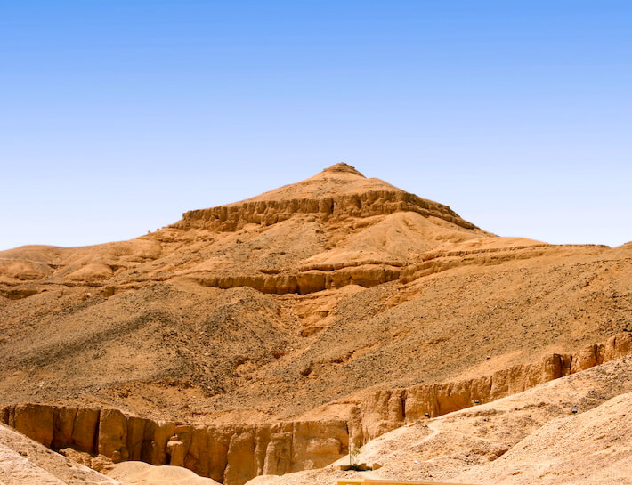 el-Qurn, the ancient Egyptian pyramid-shaped mountain