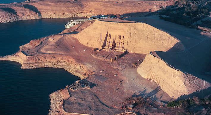 Abu Simbel aerial view