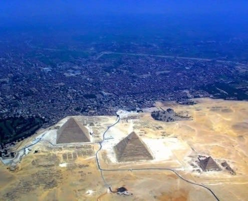 Aerial view of the Giza Necropolis - ©-Raimond Spekking