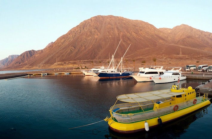 Travel to Taba, Egypt - Boats and yachts are in the harbor