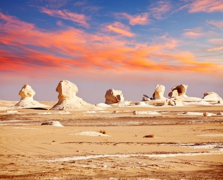 Chalk formations in the White Desert, Western Desert, Egypt