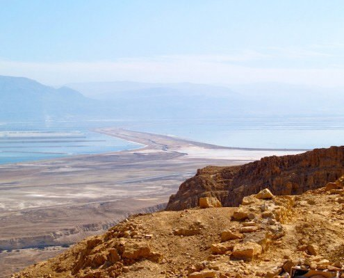 Dead Sea view from Masada, Israel