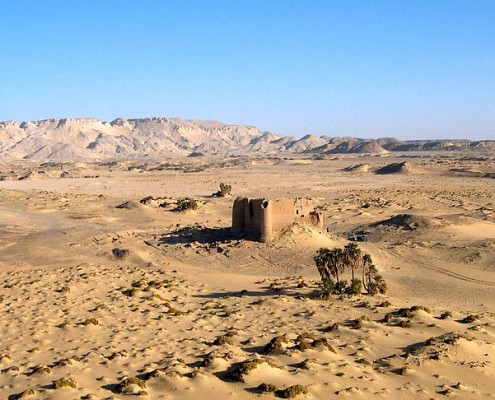 Distant view of Qasr El Labeka (Ain Labakha) - Institute for the Study of the Ancient World