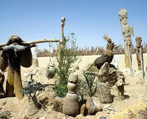Garden with sculptures, Badr Museum