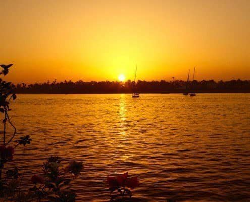 Nile River at sunset, Egypt