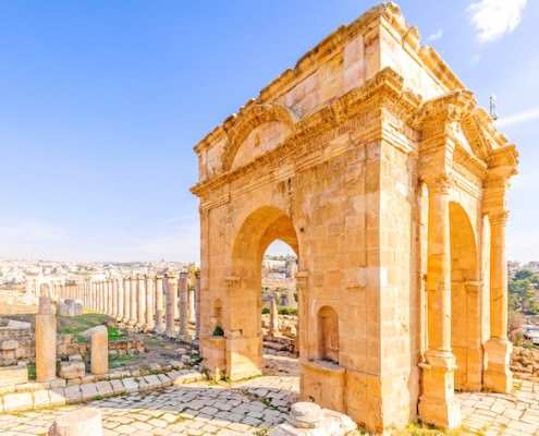 Northern Tetrapylon in Jerash, the ancient Greco-Roman city