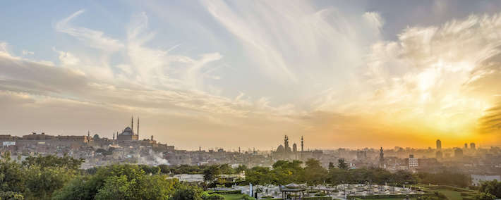 Old Cairo Panorama as seen from Al Al Azhar Park