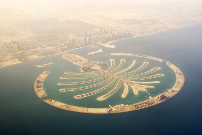 Palm Jumeirah aerial view