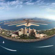 Palm Jumeirah Island, aerial view